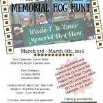 03/02 — 03/05 2017 Wade T. Witmer Memorial Hog Hunt