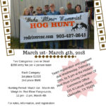03/05 — 03/08/2020 Wade T. Witmer Memorial Hog Hunt