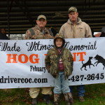 2014 Wade T Witmer Memorial Hog Hunt Winners
