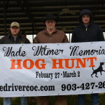 2015 Wade T Witmer Memorial Hog Hunt Winners